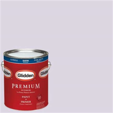 glidden premium 1 gal hdgv62u pale purple clouds satin interior paint with primer