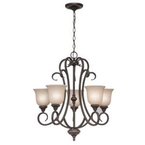 hton bay 5 light olde bronze ceiling chandelier 89546