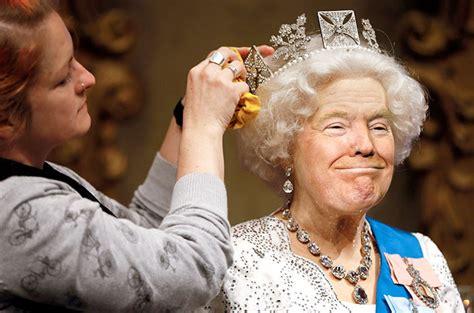 queen elizabeth donald trump est 225 n photoshopeando la cara de trump en fotos de la reina
