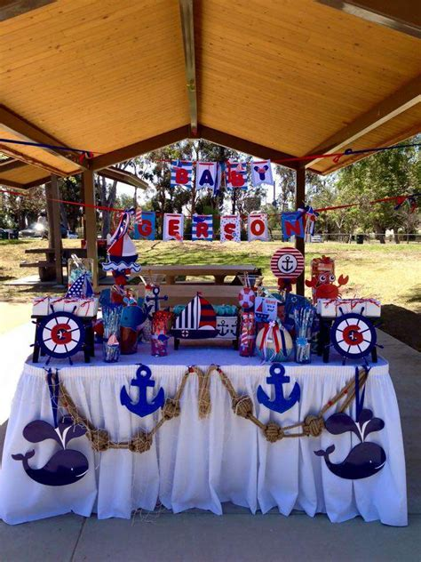 nautical baby shower decorations for home nautical baby shower party ideas photo 4 of 8 catch my
