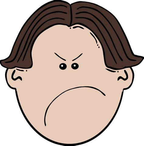 Angry Clipart angry brown boy clip at clker vector clip royalty free domain