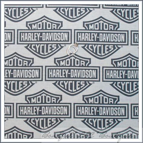 Harley Davidson Fabric by Boneful Fabric Cotton Fq Harley Davidson Logo Bike