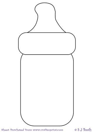 baby bottle template on craftsuprint designed by sally