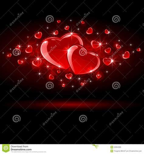 imagenes corazones oscuros corazones brillantes en fondo oscuro ilustraci 243 n del
