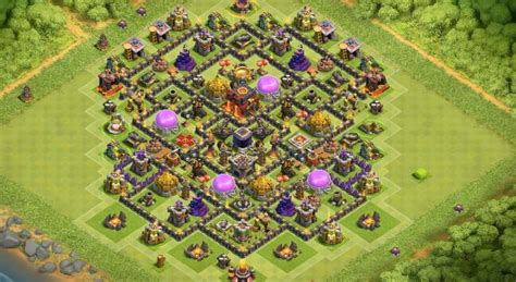 defensive war base for th10 14 anti 3 star farming guerra layouts base para junho