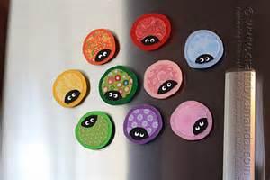 ladybug craft magnets scrap fabric