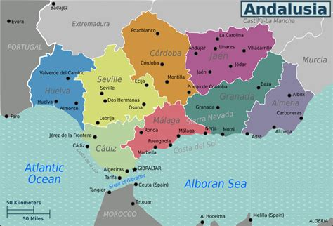 andalusia regional map 578 andalusia travel guide at wikivoyage
