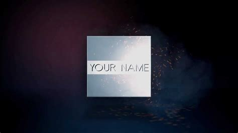 free after effects awesome intro template fire reveal no