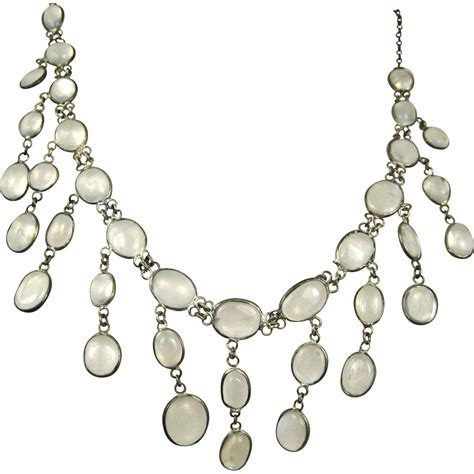 Sterling Silver Chandelier Deco Sterling Silver Chandelier Moonstone Necklace Superb From Gildedroom On Ruby