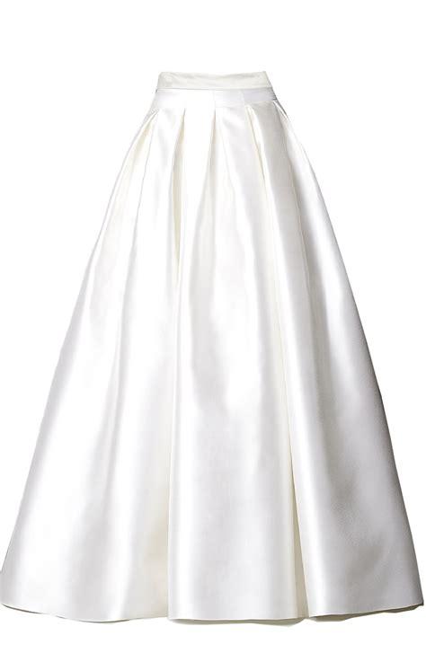 box pleated circular satin skirt elizabeth s custom skirts