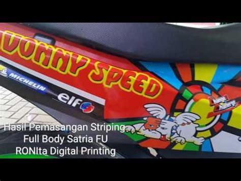 Sticker Striping Motor Stiker New Satria Fu Tech 3 Spec A striping satria fu motif