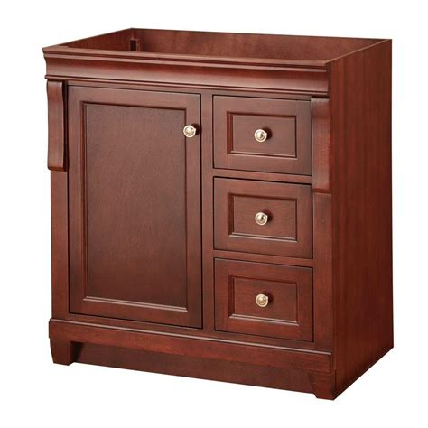 Bathroom Vanity Cabinet Only Foremost Naples 30 In W Bath Vanity Cabinet Only In Tobacco With Right Drawers Nata3021d