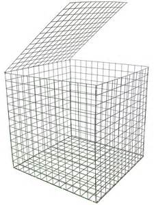 2 Door Metal Cabinet Gabion Basket Green Pvc 3mm 1m X 1m X 1m Retaining Wall