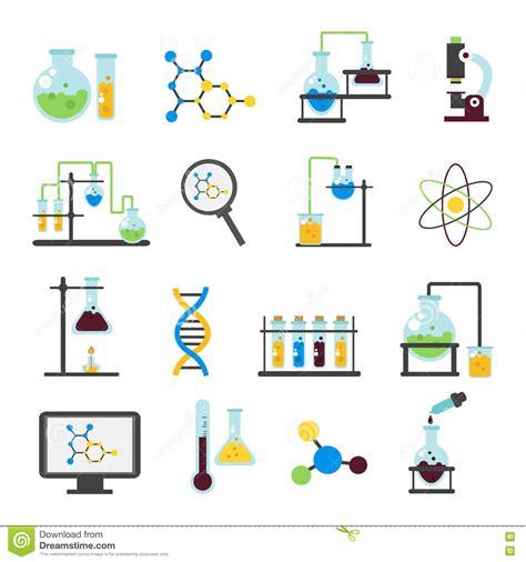 icon design lab chemistry lab flat icon set stock vector illustration of