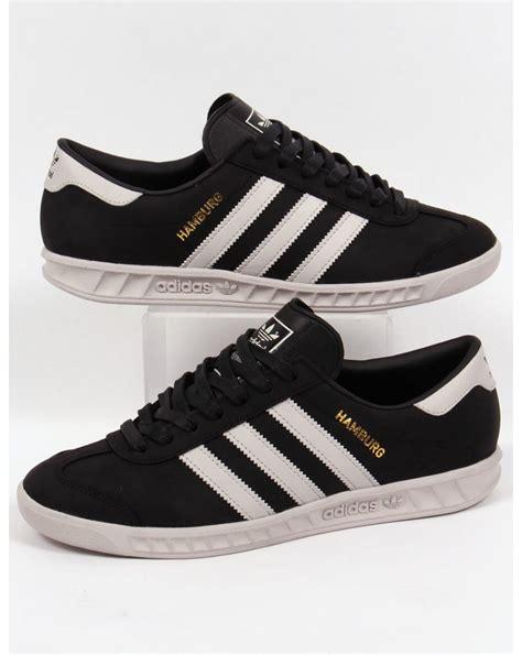 Adidas Black adidas hamburg trainers black white originals mens shoes