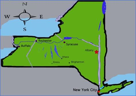 map of ny with cities new york map major cities toursmaps