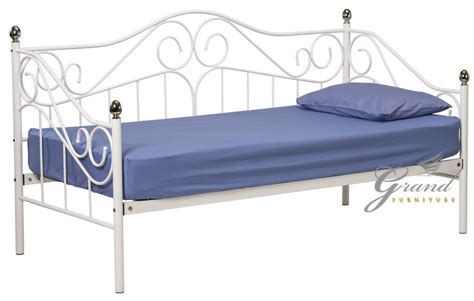 single day bed joseph white metal day bed 3ft single guest bed frame