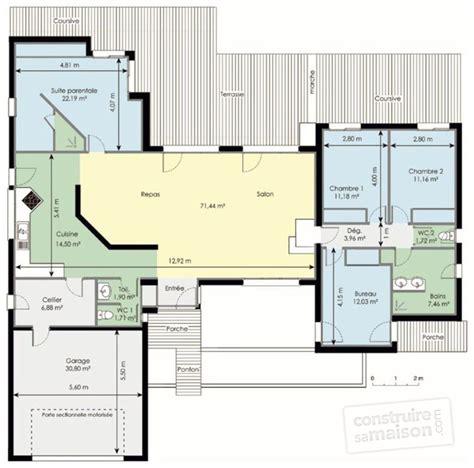Plan De Dressing Chambre 2482 by Plan Maison Plain Pied 3 Chambres Avec Suite Parentale