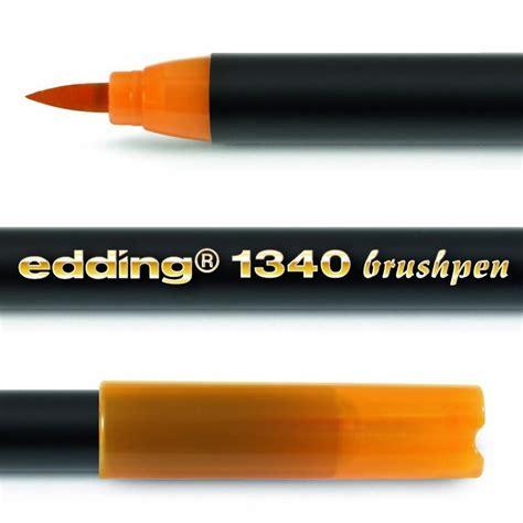 EDDING 1340 BRUSH PEN Pack of 3   FELT TIP PEN with