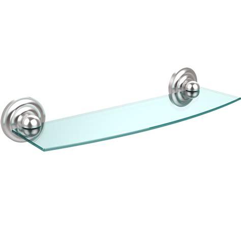 prestige beveled glass bath shelf 18 inches in bathroom