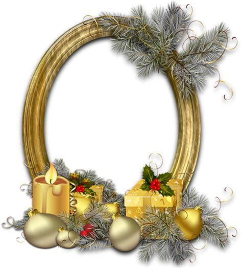 oval christmas frames oval gold photo frame with silver pine gallery yopriceville high quality images