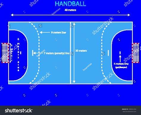 Create Blueprint handball court metric dimensions separate layer stock
