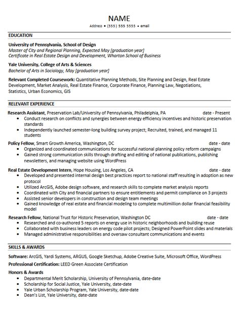 Upenn Resume by Career Services Sle Resumes For Penndesign Students