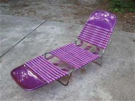 plastic fold out lounge chair vintage plastic vinyl multi folding lounge chair