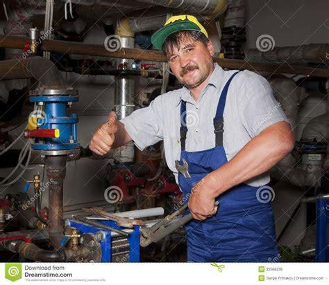 Plumbing Of Thumb plumber giving thumb up royalty free stock image image