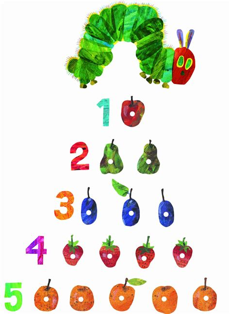Wall Stickers For Boy Nursery very hungry caterpillar by eric carle wall stickers