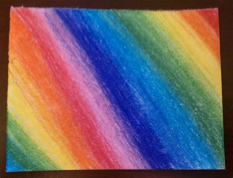 What To Make With Colored Paper - rainbow drawing