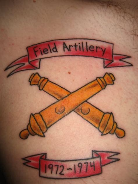 artillery tattoo designs field artillery tattoos