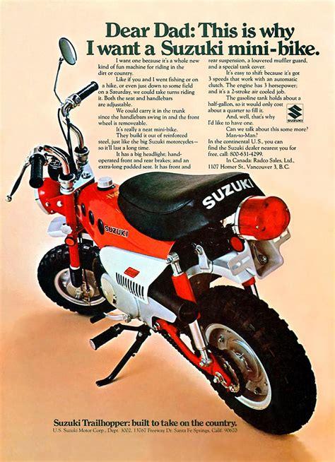 Suzuki Trailhopper by Suzuki Mt50 Brochures Adverts