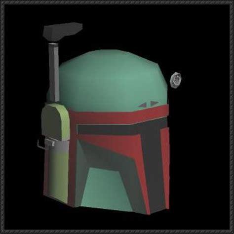 Boba Fett Papercraft - wars boba fett helmet free papercraft