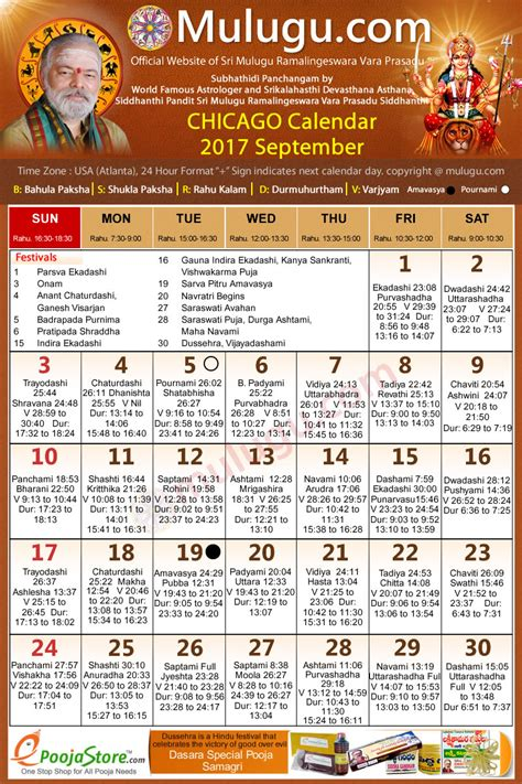 chicago telugu calendar 2017 september mulugu calendars