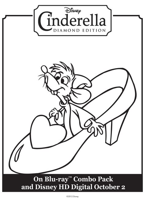 coloring pages of cinderella glass slipper cinderella mice coloring pages az coloring pages