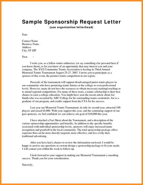 11 corporate sponsorship letter sle mystock clerk