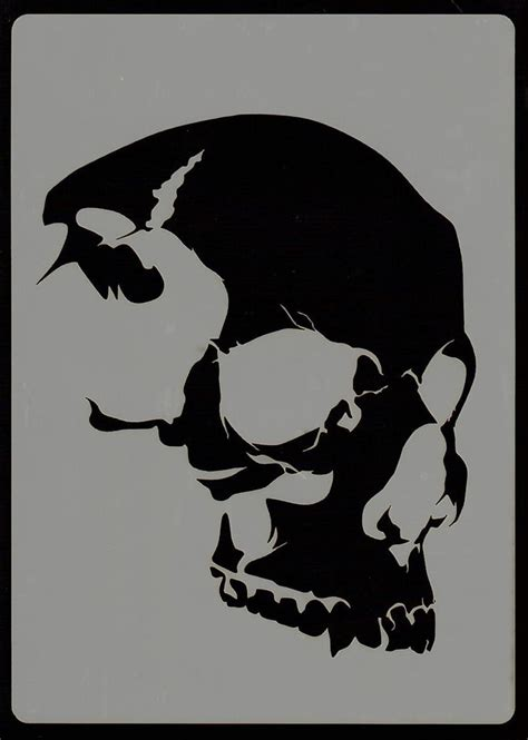Everything Airbrush Stencils Skull Head Stencil 6 Ebay Stencil Templates For Painting