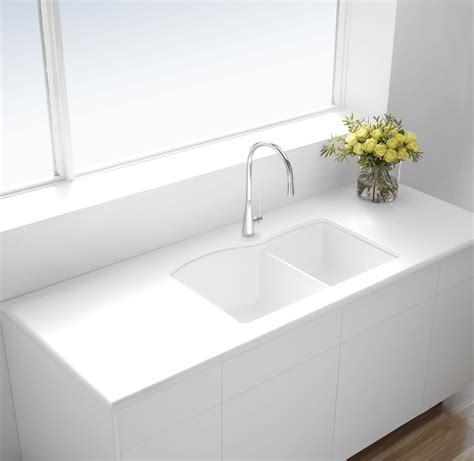 double bowl undermount kitchen sink build ca blanco 400076 u 1 3 4 double bowl