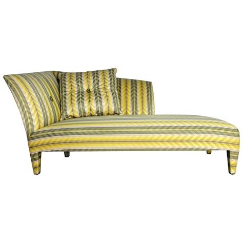 yellow chaise longue vintage donghia yellow stripe spirit chaise longue by
