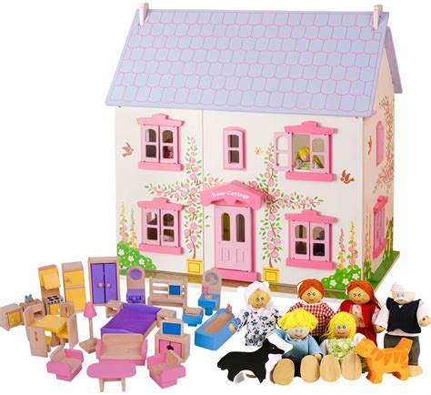 rose cottage dolls house children s wooden dolls houses