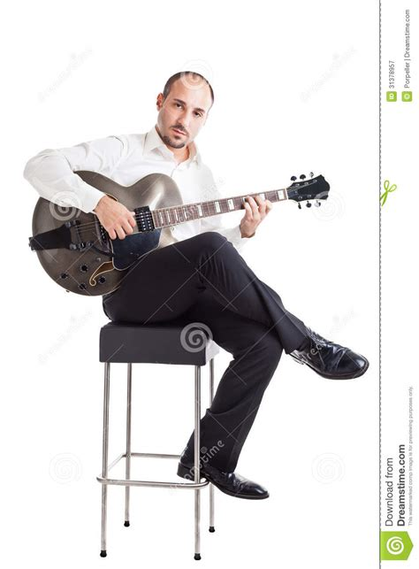 musician on a stool royalty free stock photography image