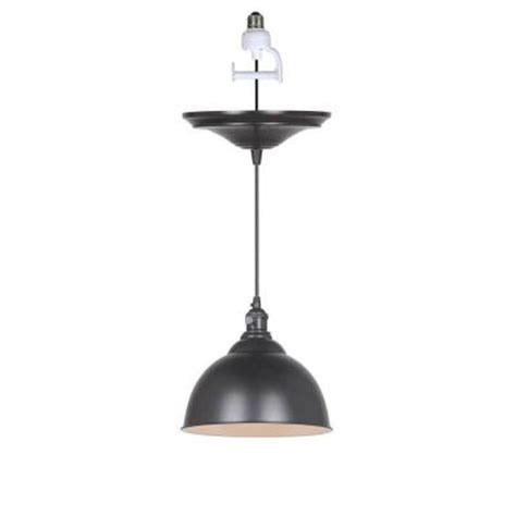 Home Decorators Collection Canady 1 Light Glossy Black Instant Pendant Light Adapter