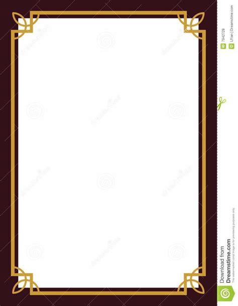 design certificate border home design certificate border royalty free stock photos