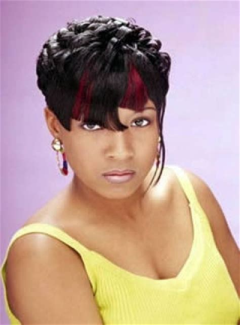 black people short hairstyles with bangs black pixie hairstyle for african american women with cropped