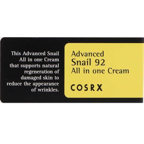 Cosrx Advanced Snail 92 All In One 10ml Essence cosrx アドバンスドスネイル92 オールインワンクリーム 100 ml iherb