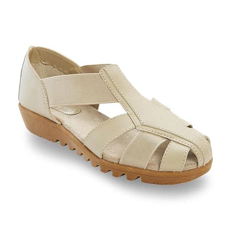 sears sandals womens i comfort s leather delia taupe fisherman