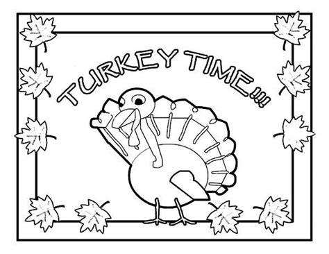 turkey time coloring page canada thanksgiving day means its turkey time coloring
