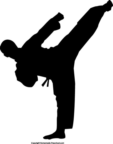 karate clipart and free silhouette clipart ready for personal and
