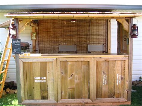 how to build a bar in your backyard an quot indiana jones quot themed tiki bar with pictures